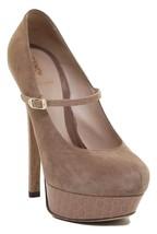 FENDI Platform Pump Suede Leather Tan Shoe Heel Sz 38 - $185.25