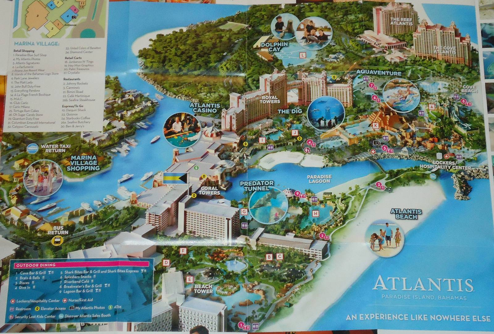 ***Brand New*** Atlantis Water Park Map And 50 Similar Items