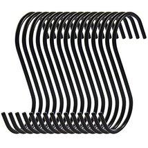 RuiLing Antistatic Coating Steel Hanging Hooks, Black, S-Shape, Pack of 15 image 2