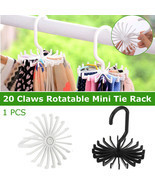 3 Pcs Ties Hook Rotating Tie Rack Adjustable Scarf Hanger Neck Belt Orga... - $18.80