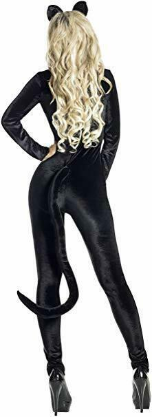 Party King Midnight Kitty Cat Catsuit Sexy Adult Womens Halloween Costume PK1908