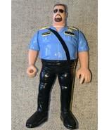 BIG BOSS MAN 1990 WWF Hasbro Action Figure Titan Sports Blue Card Series... - $7.91