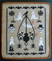 Ghostly Encounters halloween cross stitch chart Stitches Through Time  - $12.00