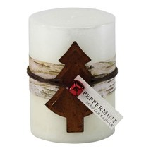 PEPPERMINT RUSTIC CANDLE 3X4 - $16.09