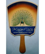 """The CHARM of COLOR"" PUTNAM Fadeless DYES Advertising Fan from Kingston, NY - $23.70"