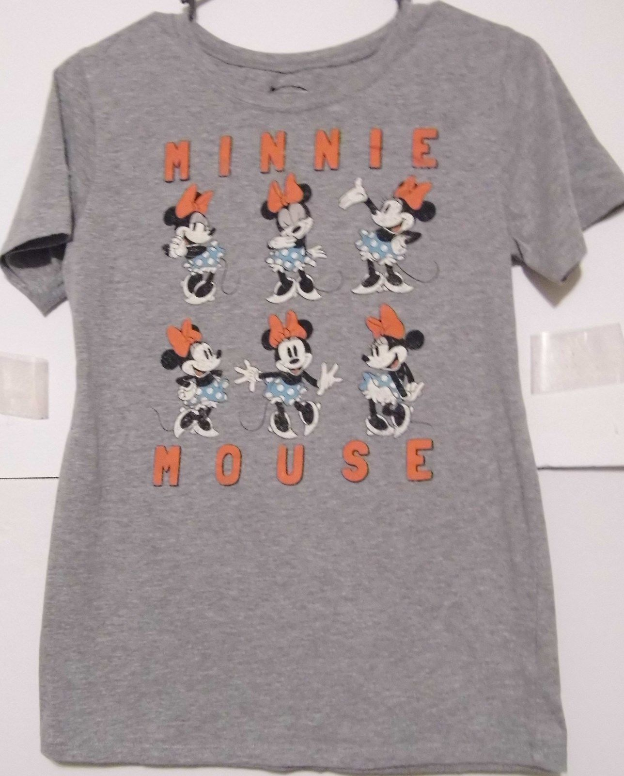 New W//Tag Gray L Disney Store Minnie Mouse Classic T-Shirt for Girls 10//12