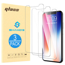 For iPhone XS / XS MAX / 9 [3 Pack] Screen Protector Tempered Glass Prot... - $5.97+