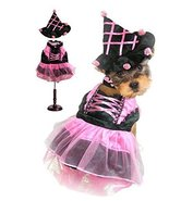 Dog Costume PINK POM POM WITCH COSTUMES Dogs As Halloween Witches(Size 3) - $49.36