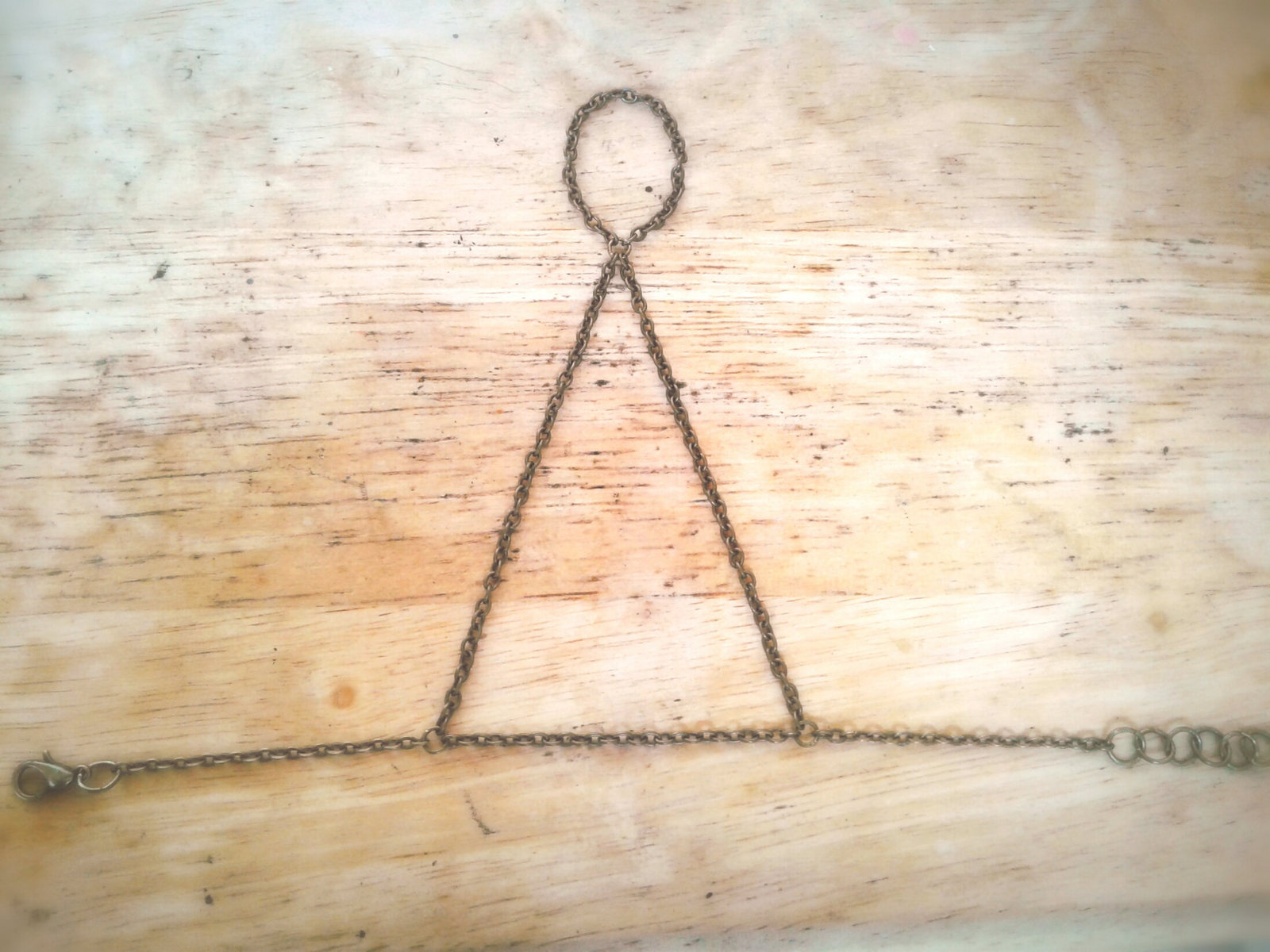 Harness Slave Bracelet Antique Brass Hand Chain Boho Slave Bracelet Ring Harness