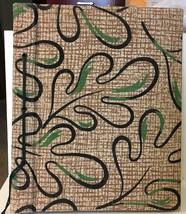 Vtg Fabric Cover Photo Album Oak Leaves 1950s - $14.01