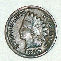 1889 Indian Head One Cent Penny Good Detail, Strike Collectible Coin Look!! - $44.53