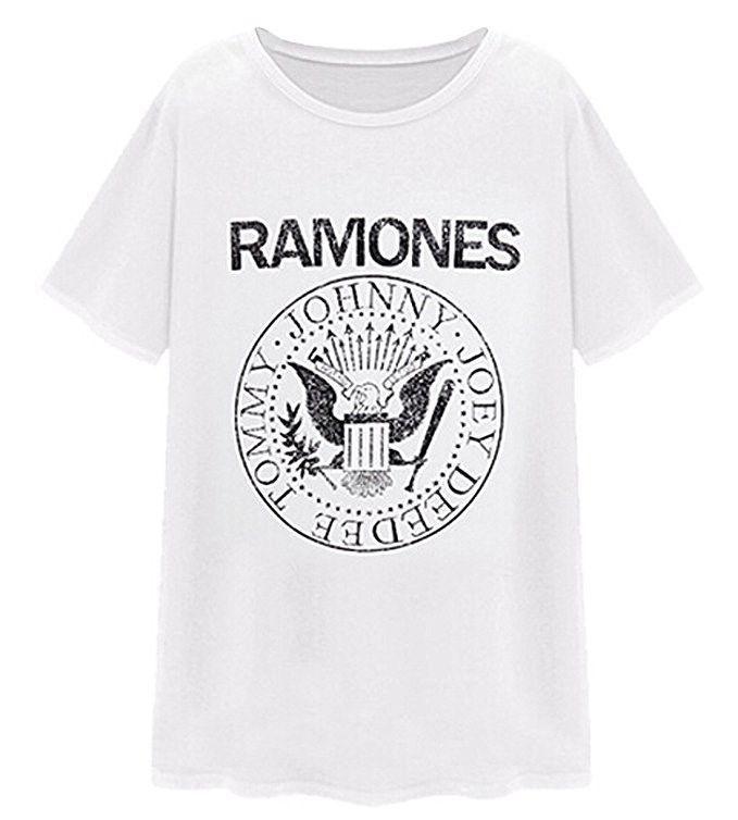 Quiksilver Men's Tee Shirt Classic Rock RAMONES Presidential Seal White T-Shirt