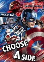 Disney Character Captain America Civil War A4 Sticker Pad Kids Fun Activity Book - $4.21