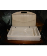Generic Sewing Machine Carry Case Nice All Plastic White w/Outlet Section - $12.50