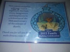 New Sealed 2012 Walt Disney 70 Anniversary Bambi Christmas Ornament Cast... - $10.00