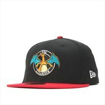 New Era Pokemon collaboration cap 59FIFTY CIRCLE LIZARDON Black / Scarlet - $95.99