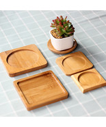 Bamboo Round Square Bowls Plates for Succulents Pots Trays Base Garden D... - $5.00