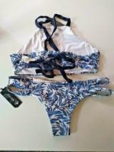 Tavik Paradise Sea Blue Liberty Halter Chloe Mini Bikini Set Size Medium image 2