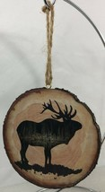 Elk Tree Slice Ornament - Lodge Log Cabin Wildlife Decor - Hunting, Tree... - $12.86