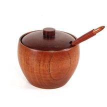 Spice Container Japan Wooden Seasoning Salt Jar Box Spoon Lid Kitchen St... - $11.71