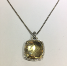 Albion Pendant with Champagne Citrine and Diamonds and 18K Gold on Chain - $1,560.00