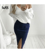 Sex off shoulder knitwear pullover Women White Autumn winter Warm Sweate... - $18.72+