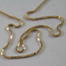 18K YELLOW GOLD CHAIN MINI 0.7 MM VENETIAN SQUARE LINK 17.70 INCH. MADE IN ITALY image 3