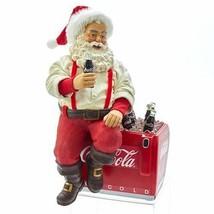 Kurt S. Adler Coca-Cola Santa on Cooler 10.5 Inch Statue Center Display ... - $59.35