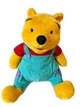 "MATTLE Walt Disney Jumbo Talking Winnie the Pooh Plush 28"" w/ Overalls Tested - $50.98"