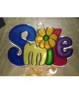 """Smile"" Suncatcher by Kelly's -Retro 80s font - $7.20"