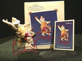 Hallmark Handcrafted Ornaments Toymaker Santa and a Pony for Christmas AA-191779 image 3