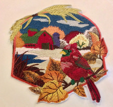 Large Embroidered Patch | Iron On Patch | Sew On Patches | Cardinal - £15.99 GBP