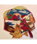 Large Embroidered Patch | Iron On Patch | Sew On Patches | Cardinal - $21.99