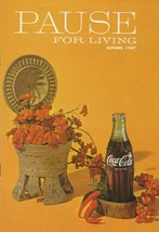 Pause for Living Autumn 1967 Vintage Coca Cola Booklet Fall Hospitality - $5.93