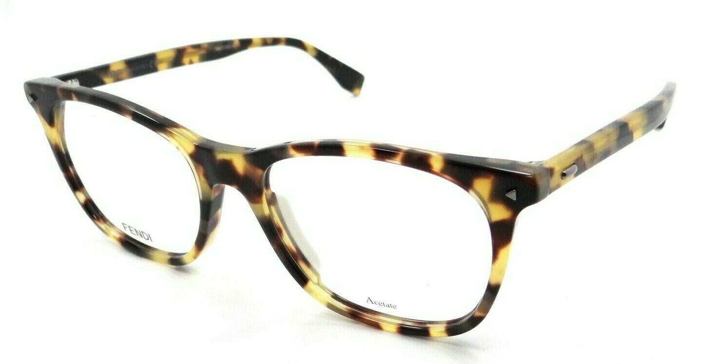 Primary image for Fendi Rx Eyeglasses Frames FF M0004 SCL 53-18-145 Yellow Havana Made in Italy