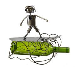Wine Bodies Cool Happy Surfer Metal Wine Bottle Holder - $26.89