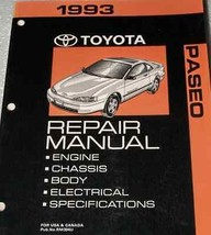 1993 TOYOTA PASEO Service Shop Workshop Repair Manual OEM 93 FACTORY  - $34.60