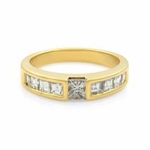 Tiffany & Co 18K Yellow Gold Princess Cut Diamond Stack Ring 0.77cts SZ 6 - $2,699.00