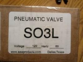 New AAA SO3L Pneumatic Valve - $323.04