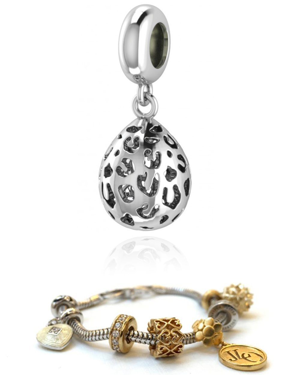 Endless Jennifer Lopez Charm Leopard Cut Drop Silver 3351 FOR ENDLESS SILVER CHA