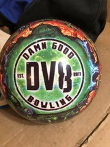 DV8 Zombie Bowling Ball 16-pound, Drilled Viz-A-Ball  W/ Carrying Case ~ - $74.79