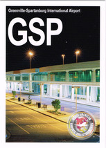 GSP Collectible Airport Trading Card Greenville-Spartanburg Internationa... - $3.00