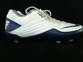 Nike Super Speed Football Cleats Size 13 Blue White 396238-141 - $22.55