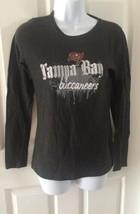 Tampa Bay Buccaneers NFL Team Apparel MEDIUM Womens Gray Long Sleeve Top Shirt - $14.92