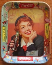 1953 Drink Coca Cola Serve Tray Menu Girl Original 13 1/4 X Approx 10 1/2'' - $30.00