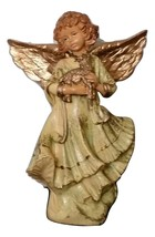 Angel with Lamb Figurine Simonetti Made in Italy 5636 Gold Angel Wings - $18.00