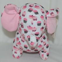 Baby Ganz Brand BG3192 Pink And Brown Ooh La La Plush Cupcake Elephant image 2