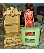 Barbie Furniture & Barbie Doll - $20.00