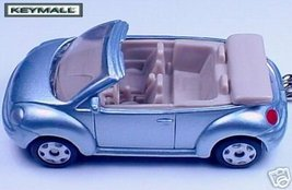 KEY CHAIN SILVER/BLUE VW NEW BUG BEETLE CONVERTIBLE HTF - $24.98