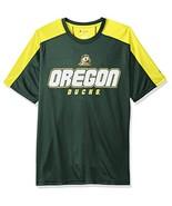 NCAA Oregon Ducks Men's Impact Color Blocked T-Shirt, Medium, Green - $15.95